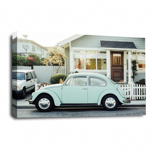 VW Beetle Canvas Wall Art Picture American Classic Car Print